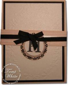 Stampin' Up! Lovely Letters stamp set - Wedding Invitation idea