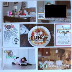 niebuhrchicks: Project Life Week 6.  Great idea to split one 4x6 photo into 2 - 3x4 pockets