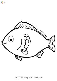 Free Downloadable Fish Worksheets for kids. Fish Coloring Page, Colouring Pages, Coloring Sheets, Toddler Worksheets, Little Fish, Infant Toddler, Preschool, Parenting, Snoopy