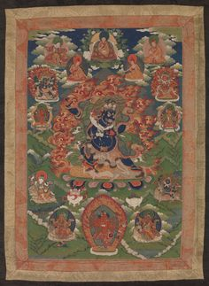 Unknown, Tibetan, Guru Sengye Gra-grogs, Eighth Manifestation of Guru Padmasambhava (18th-19th century). Gift of Mrs. George L. Hamilton to the Mead Art Museum at Amherst College. Conserved by Museum Textile Services (www.museumtextiles.com).