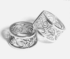 Filigree Silver Rings by Vivienne K by VivienneKJewelry on Etsy