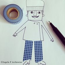 masking tape project for kiddos- you put the tape down + let them draw