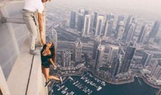 Russian model in hot water after dangling from atop Dubai skyscraper - Instagram / viki_odintcova