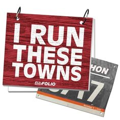 Rustic Wood BibFOLIO - Run These Towns - LT