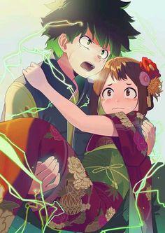 Deku x uraraka my hero academia герои, аниме My Hero Academia Memes, Hero Academia Characters, My Hero Academia Manga, Fanart, Manga Anime, Anime Art, Chibi, Samurai, Deku X Uraraka