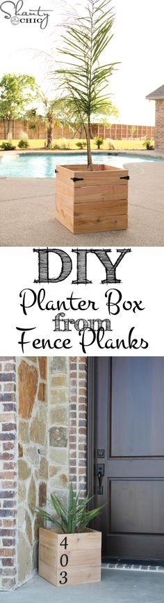 Create these super easy and inexpensive DIY Planter Boxes from fence material.