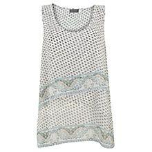 Buy Mint Velvet Demi Print Tiered Vest Top, Metallic Online at johnlewis.com