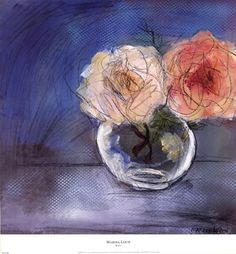 Evive Designs Roses I by Marina Louw is a high-quality piece of artwork. Painting Frames, Painting Prints, Fine Art Prints, Paintings, Flower Vases, Flower Art, Art Flowers, Still Life Art, Botanical Art