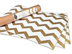 awesome!! Chevron Gold Metallic Drawer Liners