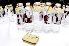 outdoor wedding ideas for summer personalized water bottle labels with your pics!
