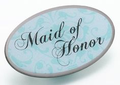 Aqua Oval Maid of Honor Pin by All Occasion Bridal Collection, http://www.amazon.com/dp/B009T9OXRE/ref=cm_sw_r_pi_dp_CPA-qb1X3BB26