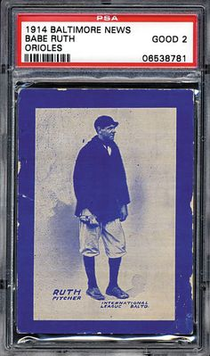 1914 Baltimore News Babe Ruth Rookie Card