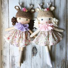 She has a friend who will also be available tomorrow  #summerintheforestcollection #handmadedolls #clothdolls #fawndolls #spuncandydolls