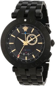 versace watch men s pre owned gianni signature gold medusa men s wrist watches versace mens 29g60d009 s060 vrace black stainless steel watch be