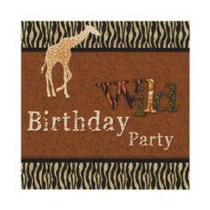 Shop Giraffe Zebra Safari Zoo Birthday Party Invitation created by elegantgreeting. Giraffe Birthday, Safari Birthday Party, Animal Birthday, Birthday Party Invitations, Birthday Parties, Birthday Ideas, Birthday Bash, Safari Theme Party, Jungle Party