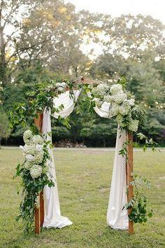greenery wedding alter ideas