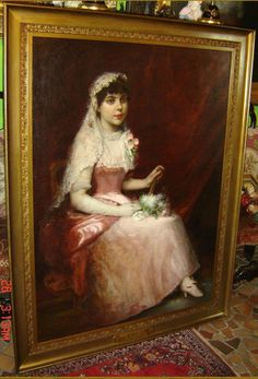 Antique Austria Aristocrat Lady Portrait Signed by Important ...