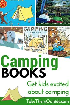 Looking for some fun and entertaining kids books about camping? Here's a list of our favorite camping picture books. Read them at home or bring them along to the campground for a quiet activity. #camping #kidsbooks