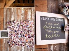 Sweet seating chart idea. Courtesy of Lauryn Galloway Photography :)