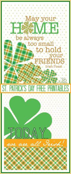St. Patrick's Day Free Printables... Lucky! #holidays #printables