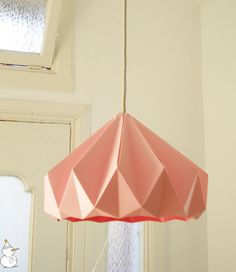 pink origami pendant light