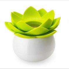 3.25 Novel-Lotus-Flower-Vase-Cotton-Bud-Holder-Toothpick-Case-Cotton-Swab-Box-Decor-Y