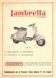 1955 Lambretta gomme Pirelli. Innocenti 2 (Keijo K. Knutas) Tags: 1955 lambretta innocenti motorcycle motorbike scooter ad advert poster pirelli
