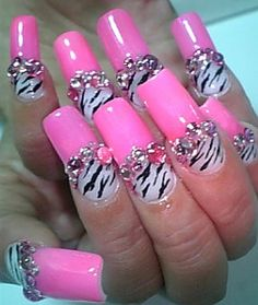 Pink and Zebra this would be ok with out all the jewels..they make it to much