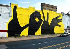 Street Art by Michael Owen found in Baltimore Architecture Miami, Art Mural, Wall Art, Michael Owen, Urbane Kunst, Baltimore City, Street Art Graffiti, Graffiti Murals, Mellow Yellow