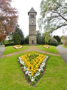 Victorian Clock tower built in 1863 and flowerbeds, Lichfield, Staffordshire, England (All Original Photography by vwcampervan-aldridge.tumblr.com)