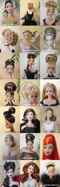 barbie hairstyles--somebody's getting a new 'do