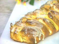 Trenza de mazapán (Hefe marzipanzopf)  Receta: Hna. Bernarda - El Gourmet- Dulces Tentaciones