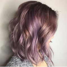 """One more honorable mention before our big winners!! @jenniferemcmillan this metallicy purple lob is to die! Thank you for entering our LOB LOVE #modernsalon contest! Using all #paulmitchellcolor """"First platinum card with synchro lift leaving out the base. Then applied 4v base once the midshaft to ends (that were in the foils) were a pale yellow. Then rinsed and applied XG the color UTV with 3 inch violet and pea size of red intensifier processed for 15 then done."""""""