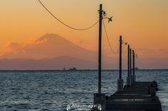 富士山撮影スポット,原岡海岸,千葉県の富士山,