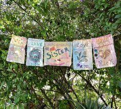 Make your own inspirational prayer flags!