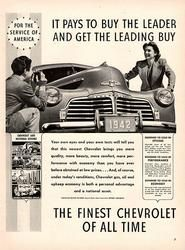 1941 Chevrolet 1942 Chevy Original Car and Truck Print Ad