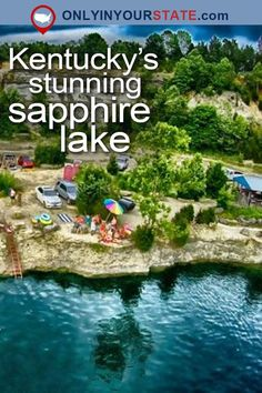 Travel | Kentucky | Attractions | Sapphire Lake | Natural Wonders | USA | Places To Visit | Day Trips | Things To Do | Road Trips | Falling Rock Park | Quarry | Scenic | Kentucky Lakes