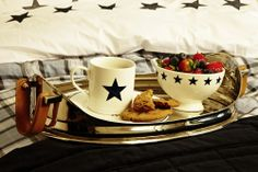 Brakfast with FLORENCE! steel tray, Florence star porcelain and Florence Design Bedding-Set. Start your day with Florence Kitchen Collection, Kitchen Items, Florence, Kitchen Design, Tray, Porcelain, Steel, Breakfast, Tableware