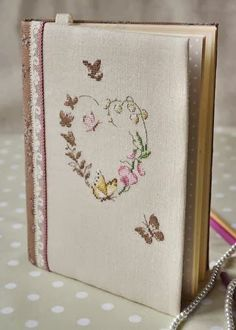 It's all about Hearts ♡ Butterfly Cross Stitch, Cross Stitch Finishing, Cross Stitch Books, Cross Stitch Pictures, Cross Stitch Heart, Cross Stitch Flowers, Cross Stitching, Cross Stitch Embroidery, Hand Embroidery