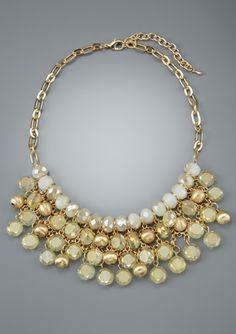 OLIVE & WINNIE 3-Row Cluster Bib Necklace @ideeli