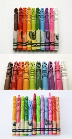 Crayon Sculptures.