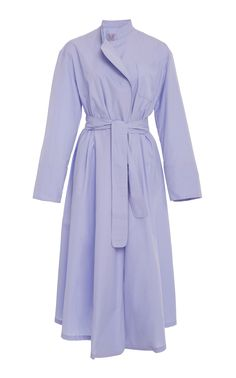 Editor's Note This Thierry Colson Sacha Robe features a wrap design with a sash at the waist Product Details Front patch pocket Mock collar Unlined Composition: 100% cotton Color: parma Wrap with self tie belt Made in France Product Code 613897