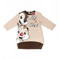 Maxi jersey dress - Girl - Autumn/Winter 2013-2014 - - Girl fashion clothing Girl fashion baby - Monnalisa Dreams chip and dale disney