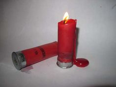 Shotgun shell candles. I'll have to make some for me!