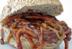 Newfoundland Recipes-Pulled Bologna Sandwich
