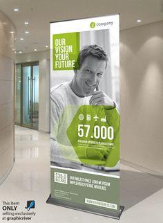 Trading infographic : 20 kreative Ideen für ein Roll Up-Display-Design Pull Up Banner Design, Standing Banner Design, Pop Up Banner, Roll Up Design, Display Design, Pull Up Stand, Page Design, Web Design, Graphic Design