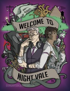 The show is just the simple community radio show of a small desert town named Night Vale. Description from agentsofguard.com. I searched for this on bing.com/images