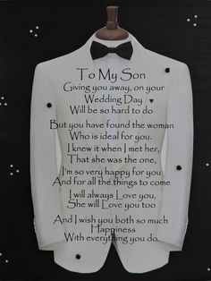 Engagement Gift for Son Son Wedding Gift Engagement Gift from Parents Engagement Gift for Him is part of Wedding day quotes - MonikasBoutique Mother Son Quotes, My Son Quotes, My Children Quotes, Sign Quotes, Quotes For Kids, Great Quotes, Inspirational Quotes, Mother To Son, Son Sayings