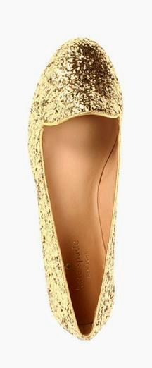 7b124faac2e Glitter flats by Kate Spade --  This makes me think of Lindsay Culver!