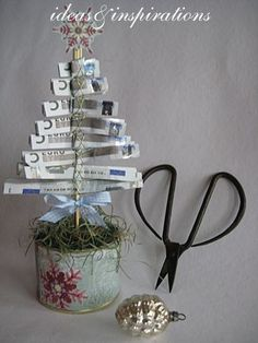Für ein Geldgeschenk zu Weihnachten - gefunden auf homeideasandinspirations.blogspot.de